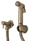 Гигиенический набор с краном KAISER металл (бронза)