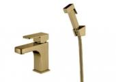 Смеситель KAISER Sonat для раковины+биде с гигиеническим душем Ø35 (бронза)