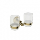 Держатель стаканов двойной(стекло) KAISER бронза (латунь)
