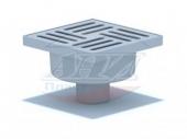 TA5210 Трап АНИ ф50 прямой, решетка пластик 15 х15
