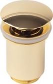 Донный клапан KАISER автомат, металл (золото)