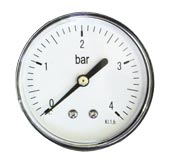 Манометр 1/4 на 4 бар с тыльным соединением Watermark