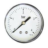 Манометр 1/4 на 16 бар с тыльным соединением Watermark