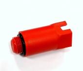 Заглушка длинная 1/2 пластик, красная