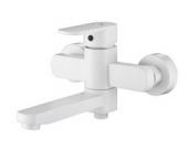 Смеситель KAISER Sonat ванна к/н Ø35 скрытый дивертор с душем(белый)