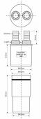 Адаптер McALPINE для подключения слива с 2-мя пр. отводами 50-40мм