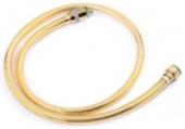 Душевой шланг Kaiser 1,75м Gold мет. усил Luxus/черн. уп-ка