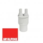 Адаптер McALPINE для подключения слива с 2-мя прямыми отводами 50мм