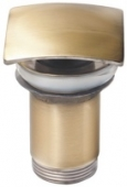 Донный клапан KАISER автомат, металл (бронза) квадрат