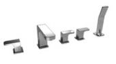 Смеситель KAISER Sonat для ванны на 5 отверстий, с подводками