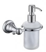 Дозатор для жидкого мыла настенный (стекло) хром(латунь)