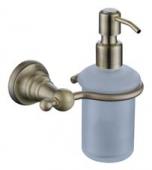 Дозатор для жидкого мыла настенный (стекло) бронза (латунь)