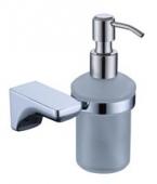 Дозатор для жидкого мыла настенный (стекло) хром (цинк)