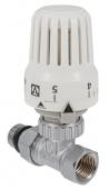 """Клапан с термостатической головкой VALTEC, для рад. прямой 1/2"""""""