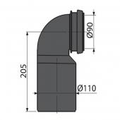 M906 Колено стока для инсталляии DN90/110