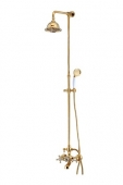 Душевая система KAISER (золото) лейка металлическая
