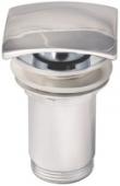 Донный клапан KАISER автомат, металл (хром) квадрат