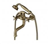 Смеситель KAISER Cross ванна к/н крест керамика(с душем) бронза